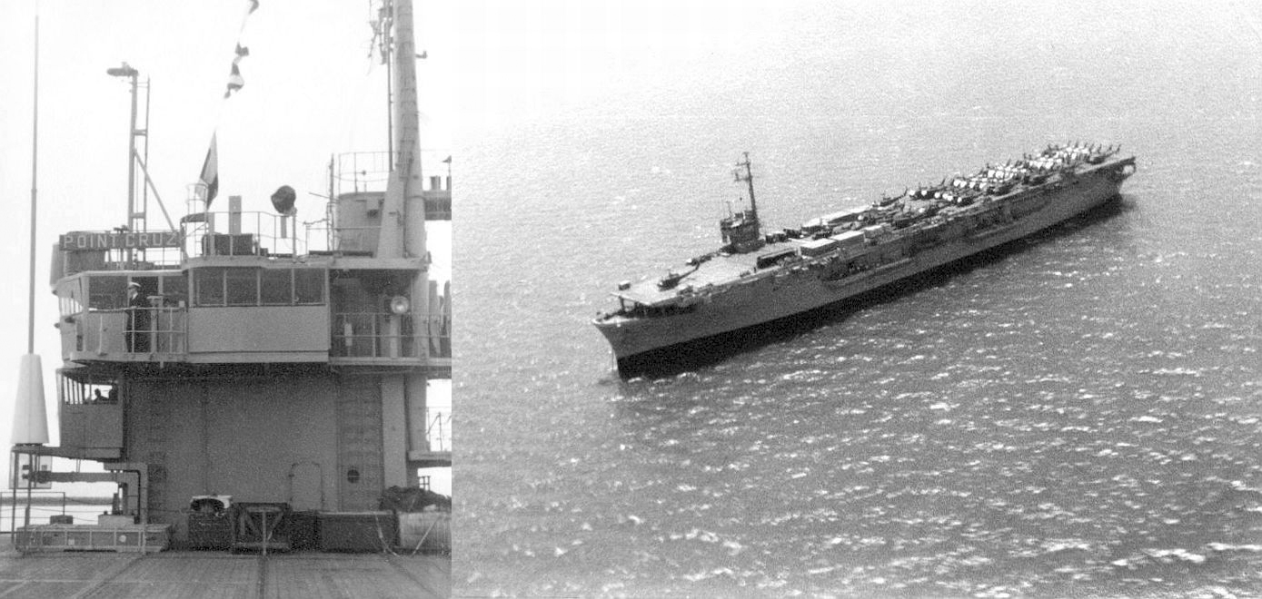 174th ahc vietnam - Left The Bridge Of The Uss Point Cruz Right 174th S Helicopters En Route On The Flight Deck